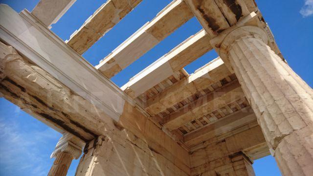 アクロポリス遺跡の柱