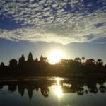 The sun rise of the Angkor Wat